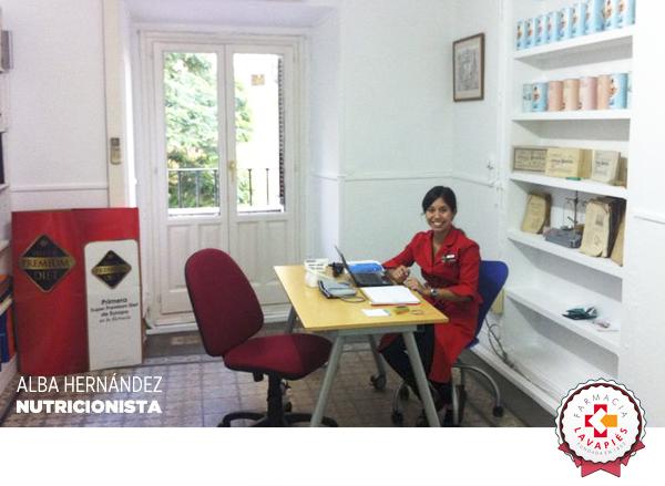 Alba Hernandez experta nutricionista de Nutrición Center en la Farmacia Lavapiés
