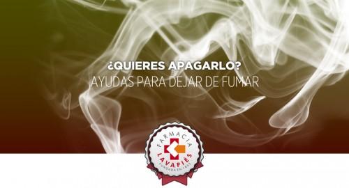 Productos que ayudan a dejar de fumar en la Farmacia Lavapiés