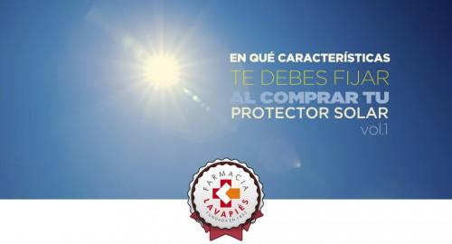 Caracteristicas importantes a la hora de comprar protector solar