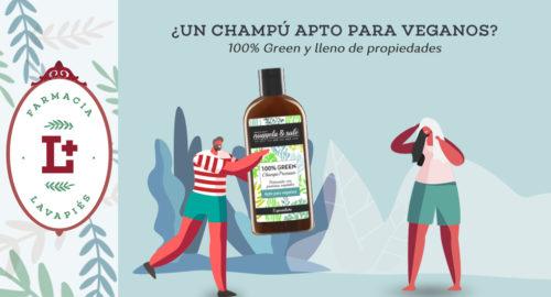 Champú 100% Green de Nuggela & Sulé apto para veganos
