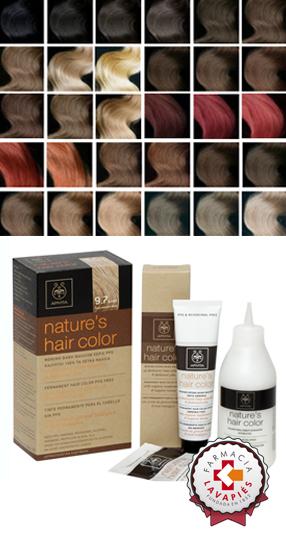 Tonos de color de los nuevos tintes hipoalergénicos de Apivita en Farmacia Lavapiés
