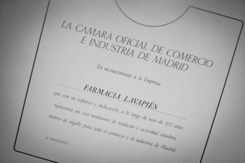 Comercio centenario Farmacia Lavapiés