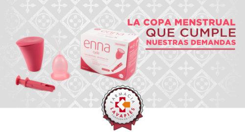 Copa menstrual enna cycle recomendada por Farmacia Lavapies