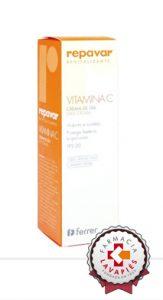 Nueva Crema revitalizante con vitamina C de Repavar con protección solar