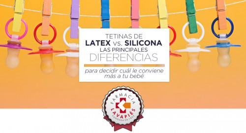 Diferencias entre tetinas y chupetes de latex o silicona farmacia online lavapies