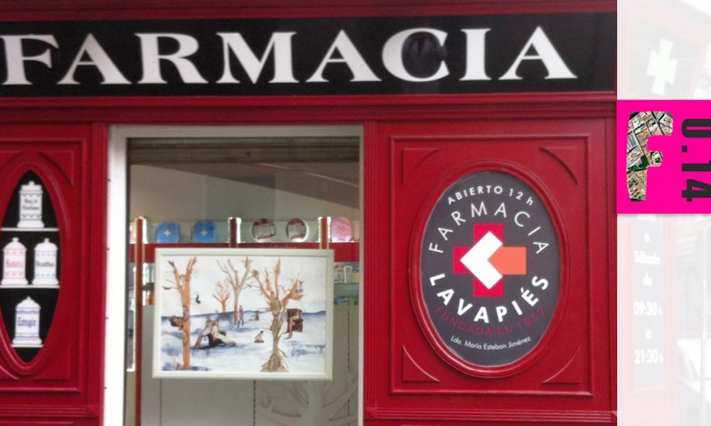 Escaparate Farmacia Lavapiés en Franqueados