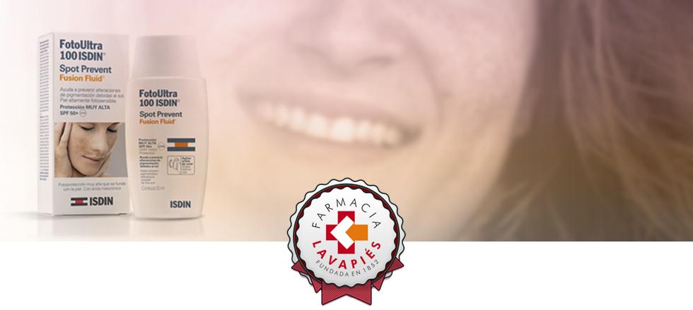 Foto Ultra 100 ISDIN protección antimanchas en Farmacia Lavapiés