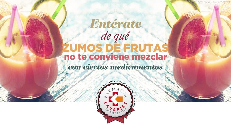 Que zumos de frutas no debes mezclar con ciertos medicamentos, por FArmacia LAvapiés