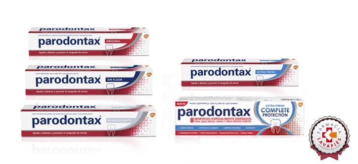 Variedades de la pasta de dientes Parodontax