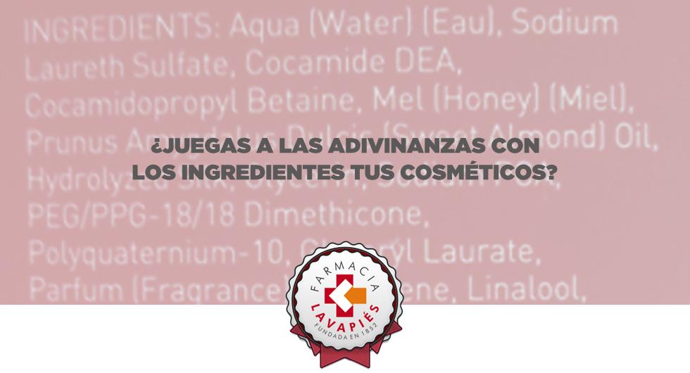 Conocer los ingredientes de los cosmeticos