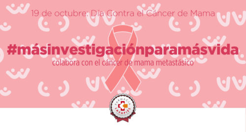 Mas investigacion para el cancer de mama metastasico en el dia contra el cancer de Mama en Farmacia Lavapies
