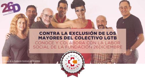Ayuda a los mayores del colectivo LGTB con la Fundacion 26 diciembre