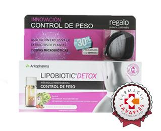 Lipobiotic detox ayuda a controlar el peso recomendado por Farmacia Lavapiés