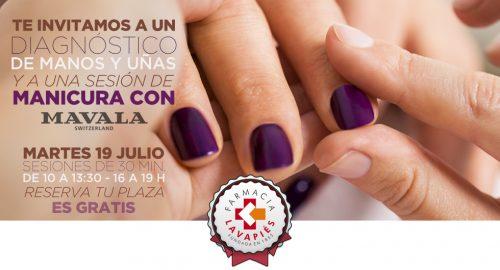 sesion de manicura y diagnóstico de manos y uñas con Mavala gratis en Farmacia Lavapiés