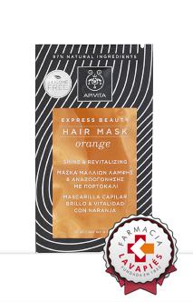 Nueva mascarilla capilar de apivita a la naranja de venta en Farmacia Lavapies