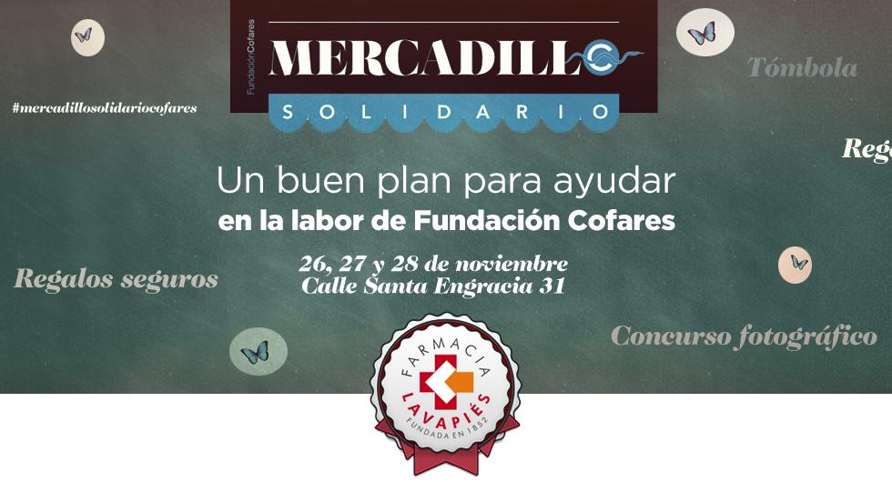 Mercadillo solidario de la Fundación Cofares en Madrid, los días 26 , 27 y 28 de noviembre de 2014. Farmacia Lavapiés Madrid