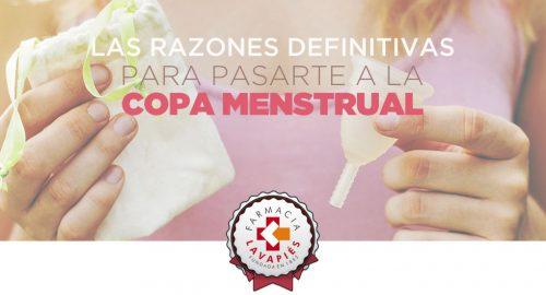 Razones para usar copa vaginal y sus ventajas
