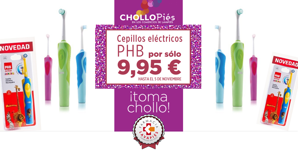Oferta Chollopiés durante Tapapies 2017 en Farmacia Lavapies cepillos electricos PHB