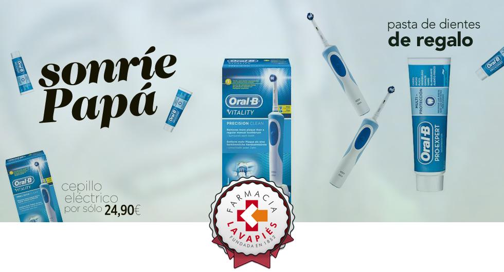 Oferta cepillo eléctrico Oral B por el día del padre