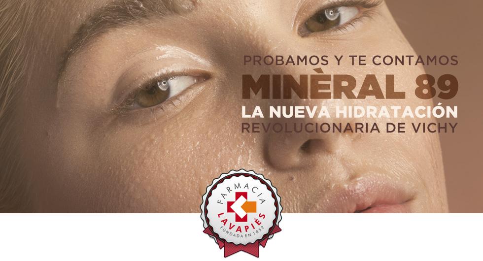 opinion nuevo mineral 89 de vichy hidratación recomendada por Farmacia Lavapies
