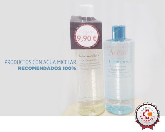 Productos con agua micelar para una perfecta higiene facial recomendados por Farmacia Lavapies