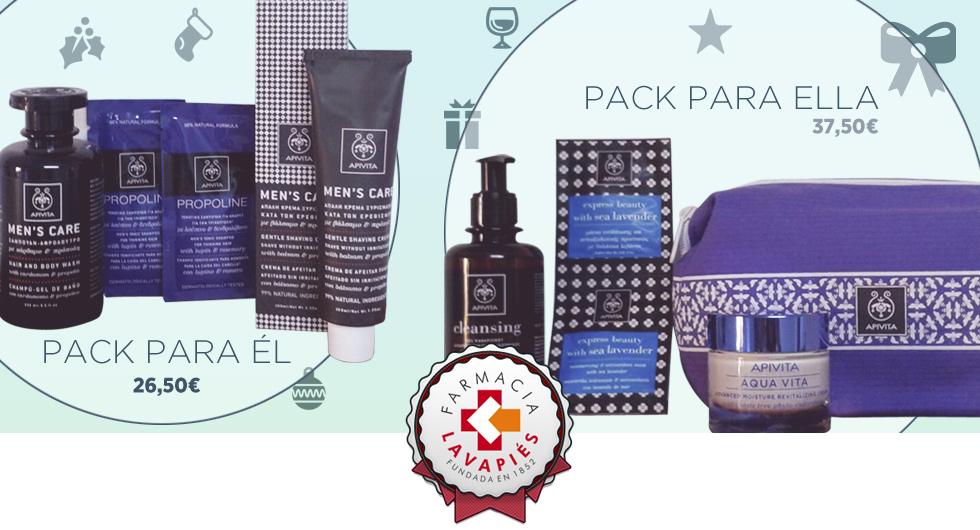 Promocion de packs de belleza Apivita en Farmacia Lavapies