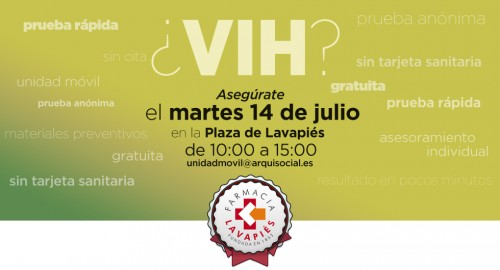 Prueba VIH gratuita en Lavapies