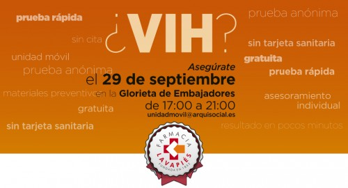 Prueba VIH gratis en Madrid (Embajadores)