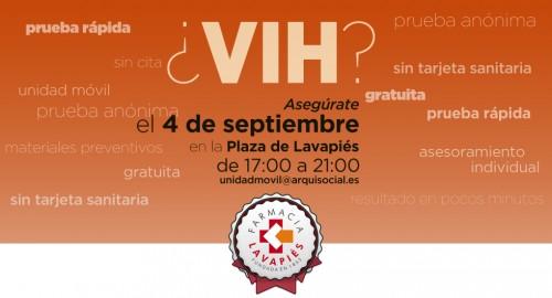 Prueba VIH y Sifilis gratuita en Madrid