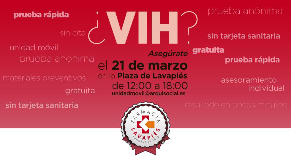 Prueba VIH gratuita en Lavapiés
