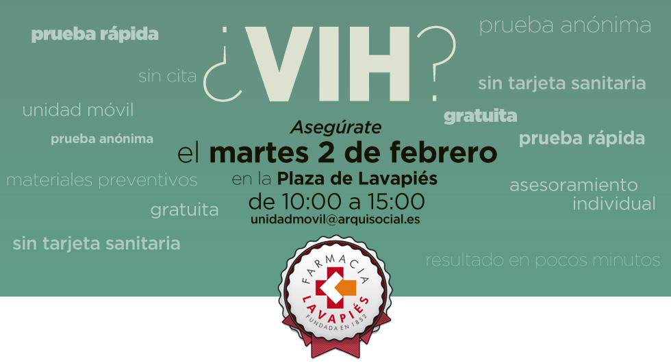 Pruebas rapidas y gratuitas de VIH y ETS en la Plaza de Lavapies de Madrid