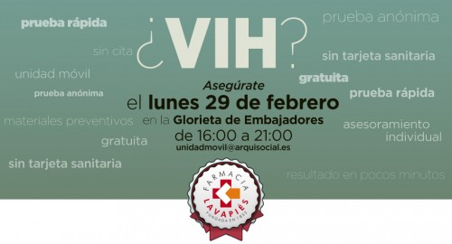 Prueba VIH gratis y rapida en Madrid