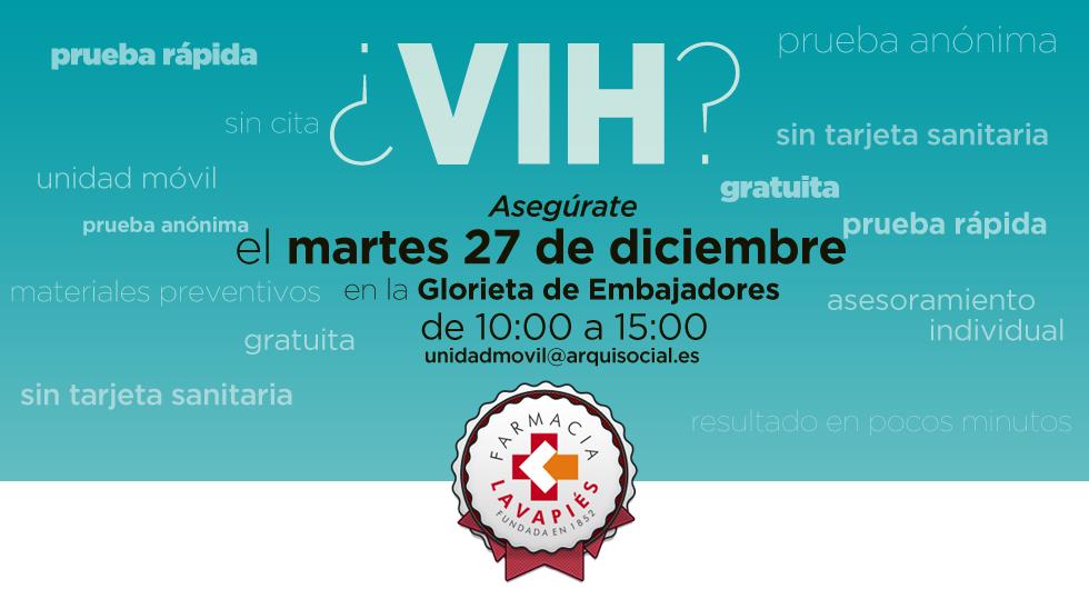 Prueba virus VIH gratis en Madrid
