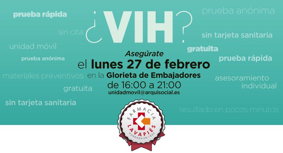 Prueba virus VIH gratuita en Madrid Embajadores