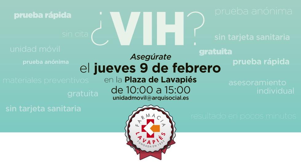 Detección virus SIDA gratuita en Madrid en la Plaza de Lavapiés