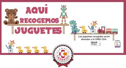 Farmacia Lavapies es un punto de entrega para la recogida de juguetes para refugiados que organiza CEAR