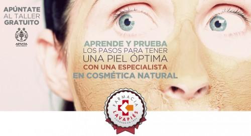 Taller gratuito en Madrid de cosmética natural de la marca con un especialista en cuidado de la piel de la marca Apivita en Farmacia Lavapies