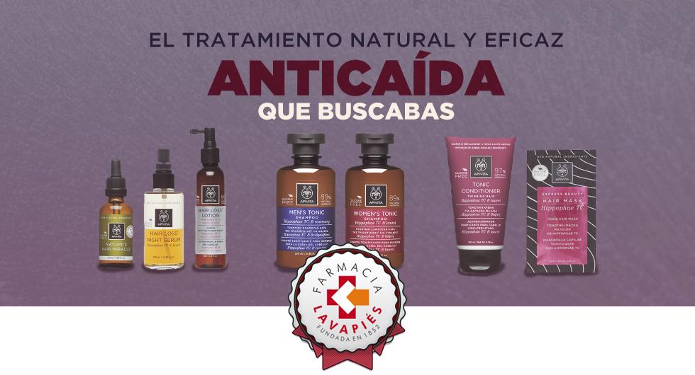 Tratamiento para la caida del pelo natural y eficaz de Apivita recomendado por Farmcia Lavapies