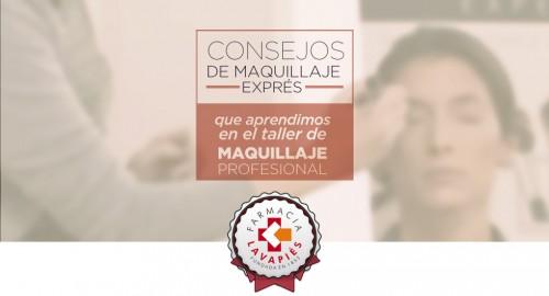 Consejos y trucos de maquillaje rápido profesional que aprendimos en el taller de cosmetica en Farmacia Lavapies