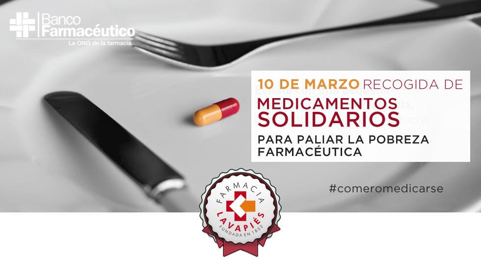 voluntarios necesarios para recogida de medicamentos solidarios en farmacia lavapies