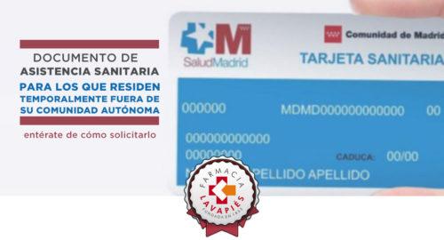 como solicitar el documento de asistencia sanitaria a desplazados en la comunidad de madrid