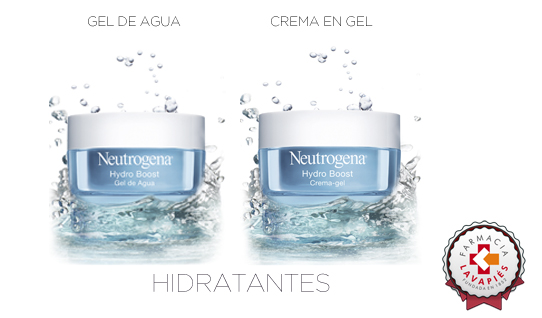 Cremas hidratantes de Hydro Boost de Neutrogena para mejorar la hidratación de la piel en invierno Farmacia Lavapiés