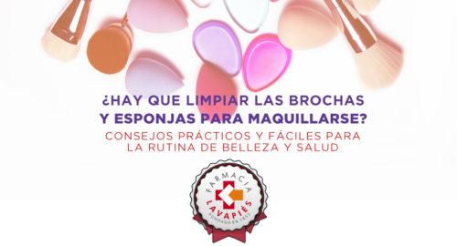 Como limpiar las brochas y esponjas de maquillaje de manera practica y facil por Farmacia Lavapies