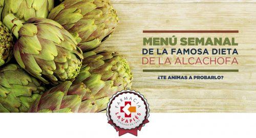 Menu semanal de la dieta de la alcachofa para adelgazar en Farmacia Lavapiés