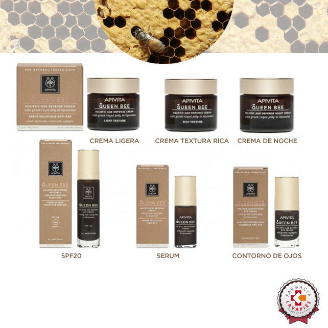 Nuevas cremas y productos de cosmetica natural de la gama Queen Bee de Apivita