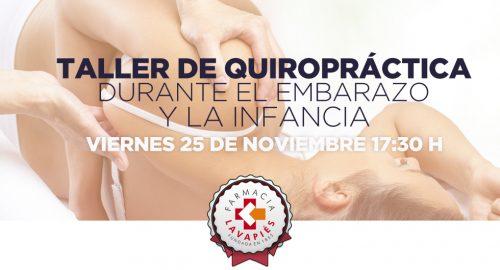 taller quiropractica durante el embarazo y la infancia en Madrid, Farmacia Lavapiés