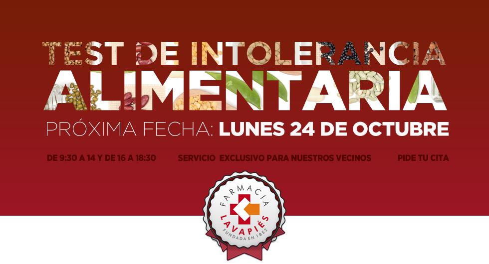 Test intolerancia alimentos en Madrid