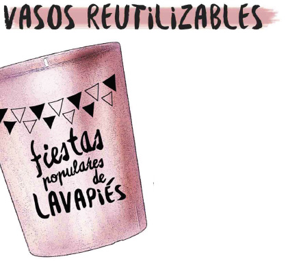 Vasos reutilizables Fiestas populares Lavapies